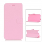 Buy Silk Pattern Ultra-thin Protective Flip-Open PU Leather Case Stand IPHONE 6 PLUS - Pink