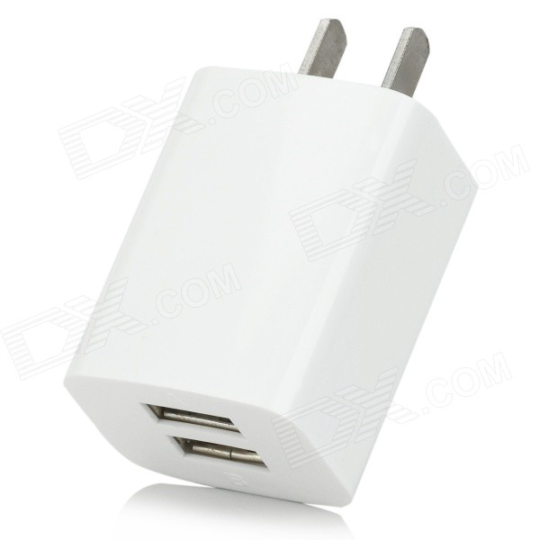 iznc znc-021 Universal Dual-USB AC Power Charger Adapter for IPHONE / IPAD - White (US Plug) цена и фото