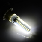JRLED E27 6W 600lm 6500K 104-SMD 3014 LED White Corn Lamp - White + Transparent (AC 220V)