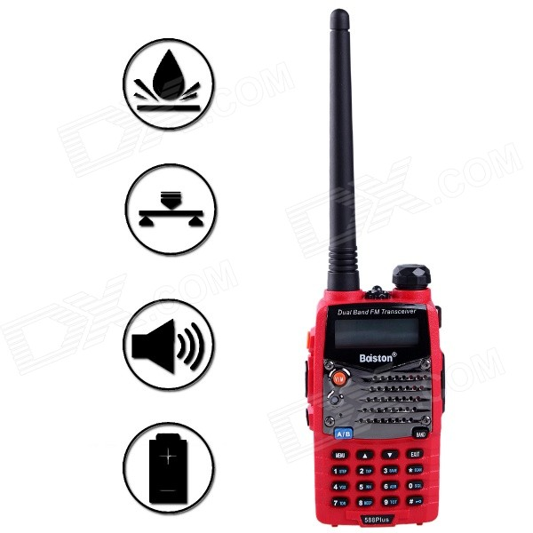 Baiston 588Plus 1.5'' 8W 2-Way Radio Dual Band UHF/VHF Walkie Talkie Set