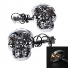 Skull Head Style 1W 60lm 560~590nm 4-LED Yellow Motorcycle Steering Lamps (12V / Pair)