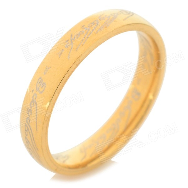 Ring-to-rule-them-all 316L Stainless Steel Ring - Golden (Size 9) ring to rule them all 316l stainless steel ring black size 11 5