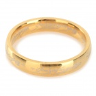 Ring-to-rule-them-all 316L Stainless Steel Ring - Golden (Size 9)