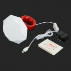 S110 Romantic Birthday Gift Diamond Ring Style LED White Light USB Lamp - White + Red