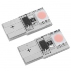 T10 0.8W 30-Lumen 2x5050 SMD LED Car Pink Light Bulb (DC 12~24V/Pair)