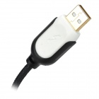 USB Male to Micro USB Male Data Charging Nylon Cable for HTC / Samsung - Black + White (1.3m)