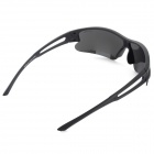 OULAIOU Men's Outdoor Cycling Plastic Frame PC Lens UV400 Sunglasses - Black