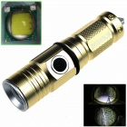 ZHISHUNJIA ZSJ209B 1-LED 700lm 3-Mode White Light Flashlight w/ Strap - Golden (1 x 16340)