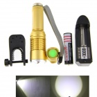 UltraFire JG-5 800lm 5-mode White Zooming Flashlight Set - Gold (1 x 18650)