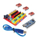 KEYES V4 Engraving Machine Expansion Board + Stepper Motor Drive Set for Arduino - Red + Yellow