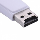 USB 2.0 to Micro USB OTG SD / TF Card Reader - White