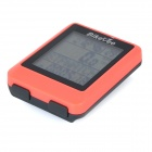 "BIKEVEE BKV-9100H Multi-Functional 1.7"" Screen Wireless Bike Computer w/ Heart Rate Function - Red"