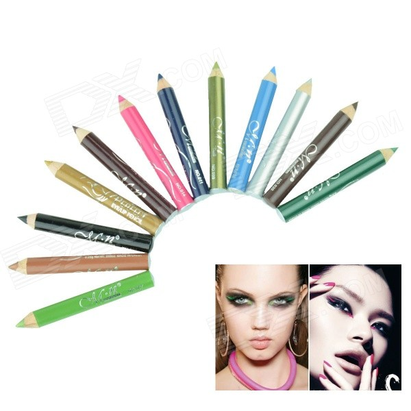 12-in-1 Cosmetic Makeup Eyeliner Pencil - Multicolored (12-Color)