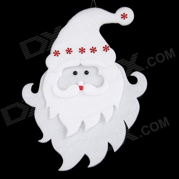 Cute Santa Clause Pattern Christmas Ornament - White + Red (43 x 30cm)