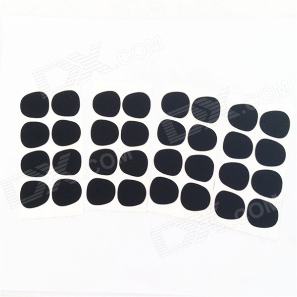 Universal 0.8mm Alto / Tenor Saxophone Bite Block Teeth Pad - Black (32 PCS) new arrival dental all teeth removable standard teeth tooth model 28 pcs teeth student learning model