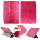 ENKAY PU Leather Full Body Case w/ 3-Fold Stand / Auto Sleep / Wake-up for IPAD AIR 2 - Deep Pink