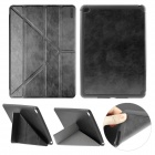 ENKAY Protective PU Leather Full Body Case w/ Stand / Auto Sleep / Wake-up for IPAD AIR 2 - Black