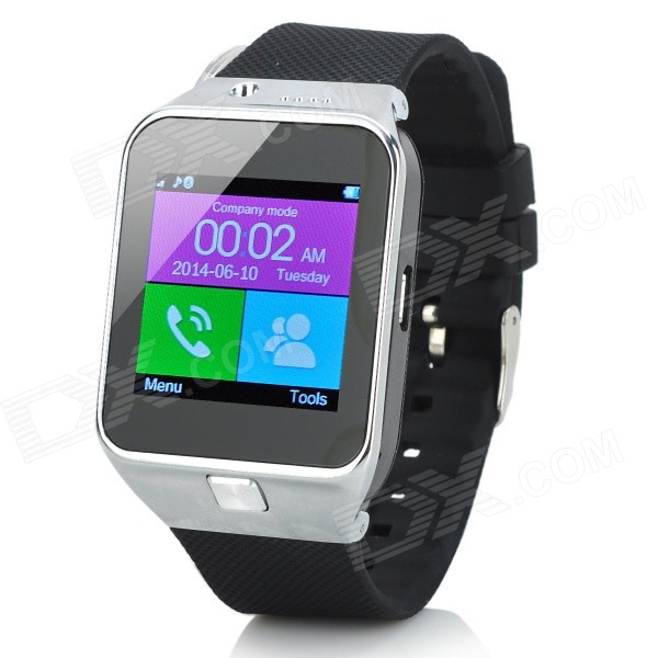 IK-S 1.54 Screen GSM Watch Phone w/ Bluetooth, Pedometer, Remote Camera - Black + Silver