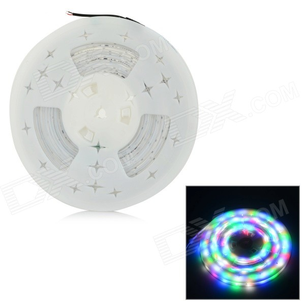 JRLED 48W 2500lm 320-SMD 3528 LED RGB Light Strip - White + Black (10M / DC 12V)