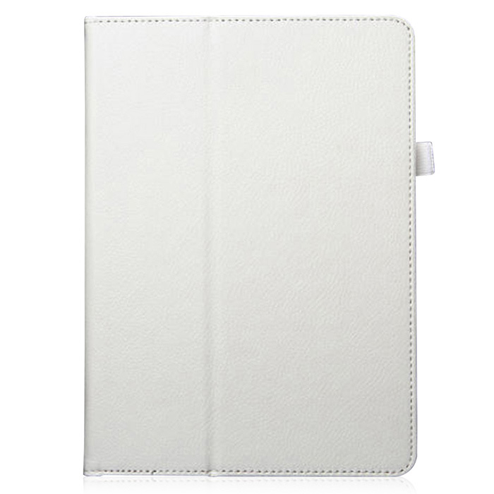 Protective PU Leather Case Cover w/ Stand + Auto Sleep for IPAD AIR 2 - White