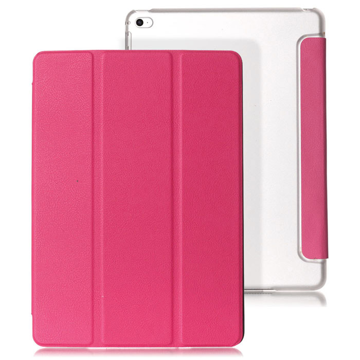 Mr.northjoe Protective PU Leather Case Cover Stand w/ Auto Sleep for IPAD AIR 2 - Deep Pink protective pu leather case cover stand w auto sleep for ipad air 2 purple