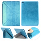 ENKAY Auto Sleep & Wake-up Designed Protective Case w/ Multi-folding Stand for IPAD AIR 2 - Blue