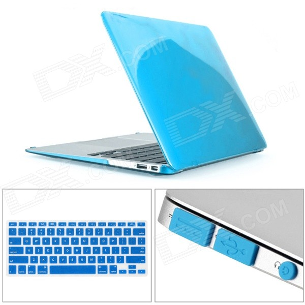 Mr.northjoe Ultra Slim Crystal Hard Case + Keyboard Cover + Anti-dust Plug Set for MACBOOK AIR 11.6