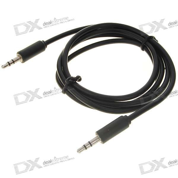 3.5mm M-M Stereo Audio Cable - Black (1M-Length) xlr female socket to 6 35mm jack plug stereo audio cable cord wire for mic 1m