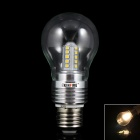 KINFIRE E27 5W 350lm 3000K 25-SMD 2835 LED Warm White Light Lamp Bulb - Silver (85~265V)