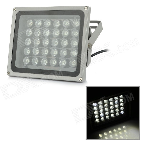 JRLED Waterproof 30W 3000lm 6000K 30-LED White Light Spotlight - Silvery Grey + Black (AC 100~240V)