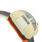 SUNREE impermeable 162lm 4-Mode luz amarilla caliente LED faro - beige