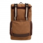 ZIQIAO-308 Outdoor Travel Leisure Canvas Shoulders Bag Backpack  - Khaki