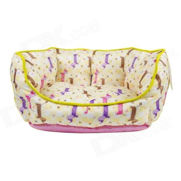 YDL-WA4008-M Fashionable Snoopy Style Nest Bed for Pet Cat / Dog - Pink + Yellow (M)