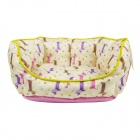 YDL-WA4008-M Fashionable Nest Bed for Pet Cat / Dog - Pink + Yellow (M)