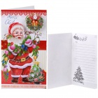 Christmas Holiday Cards Postcards Greeting Cards swith Envelopes - Red + Green + Multi-Color (8 PCS)