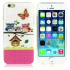 "Owl Family Pattern Protective TPU Case for IPHONE 6 4.7"" - Multicolored"