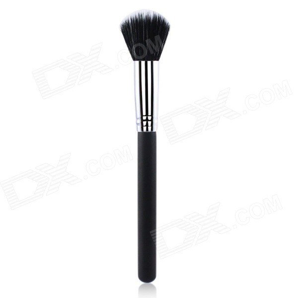 Portable Professional Cosmetic Makeup Wood + Fiber Flat Foundation Brush - Black
