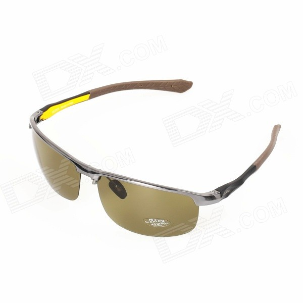 Men's Outdoor Fishing Driving UV400 Protection Resin Polarized Lens Sunglasses - Blackish Green