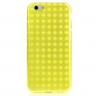 """Hat-Prince Protective TPU Case w/ Anti-dust Plugs for IPHONE 6 4.7"""" - Yellow"""