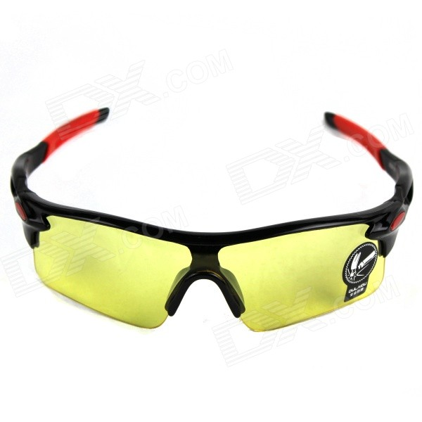 Unisex Outdoor Fashionable Explosion Proof PVC Goggles - Yellow + Black + Red
