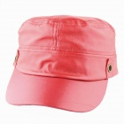 YUSHAN Fashionable PU Leather Flat-Top Hat Cap - Red