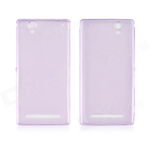 Angibabe 0.45mm Soft Translucent TPU Phone Case for Xperia T2 Ultra XM50t - Purple