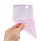 Angibabe 0.45mm Soft Translucent TPU Phone Case for Xperia T2 Ultra XM50t - Pink