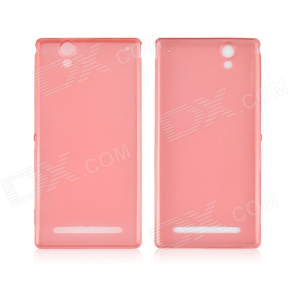 Angibabe 0.45mm Soft Translucent TPU Phone Case for Xperia T2 Ultra XM50t - Red