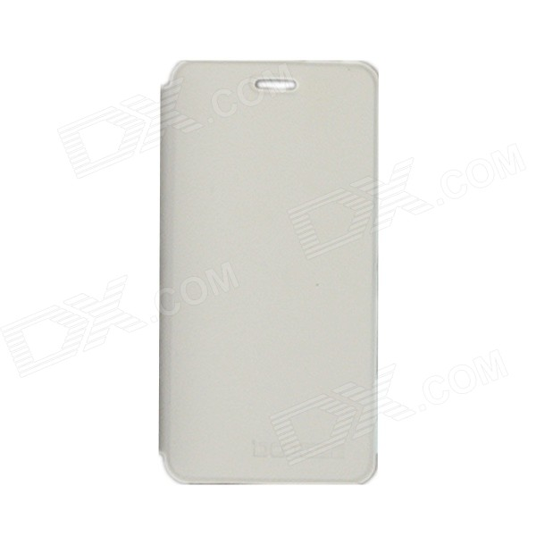 DOOGEE Protective PU Leather Case for DOOGEE DG800 - White doogee valencia dg800 replacement battery back cover case white