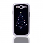 Christmas Tree Pattern Back Case for Samsung Galaxy S3 i9300 - Black