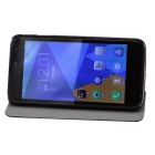 Doogee beskyttende PU + ABS case w / holder for Doogee DG310 - svart