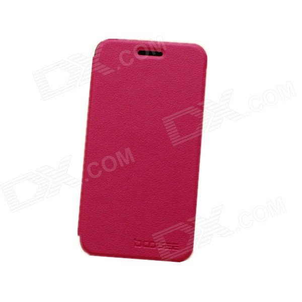 DOOGEE Protective PU Leather Smart Case for DOOGEE DG310 - Red protective pvc plastic back case for doogee dg310 deep pink