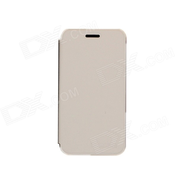 DOOGEE Protective PU Leather Smart Case for DOOGEE DG310 - White doogee protective pu leather case for doogee dg800 white