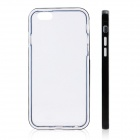 "Ultra-Slim Removable Protective TPU Back Case for IPHONE 6 4.7"" - Transparent + Black"